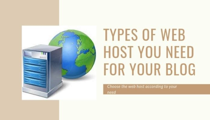 Types of Web host for your blog