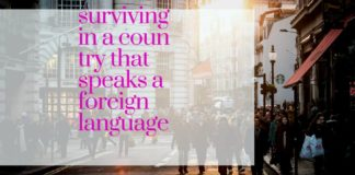 survive in a country that speaks a foreign language