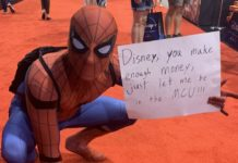 fans protesting spider-man's exit from the mcu